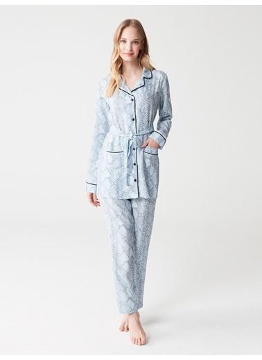 Mod Collection Kadın Pijama Takımı Mavi